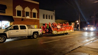 Many community group floats were overflowing with holiday cheer.